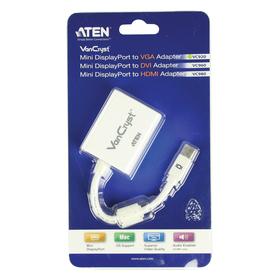 Aten VC920 Mini DP zu VGA Adapter Weiß