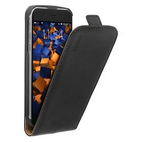 """mumbi Flip Case Ledertasche für iPhone 6 (4,7"""") schwarz"""