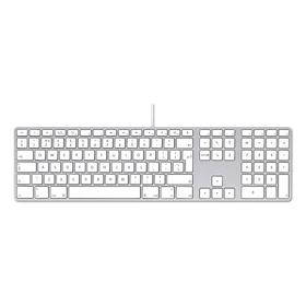 Apple Tastatur aus Aluminium mit weißen Tasten und Nummernblock deutsch