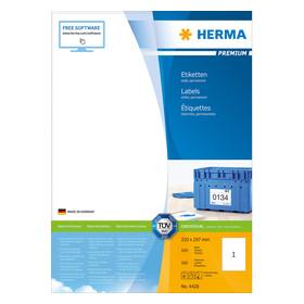 Herma Premium Etiketten 210x297 100 Bl. DIN A4 100 Stück