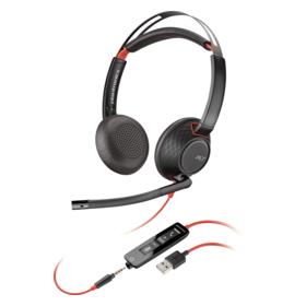 Plantronics Blackwire 5220, Headset binaural mit USB/3.5 mm Klinkenstecker