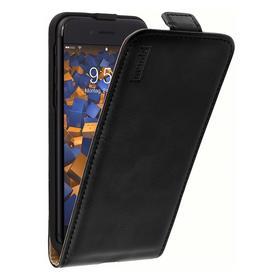 mumbi Premium Leder Flip Case für iPhone 8 / iPhone 7 schwarz
