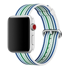 Apple gewebtes Nylonband für Apple Watch 38mm blau gestreift