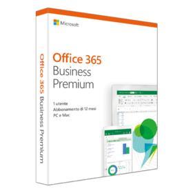 Microsoft Office 365 Business Premium, Jahresabonnement, Deutsch, 1 User, 5 PC/Mac.