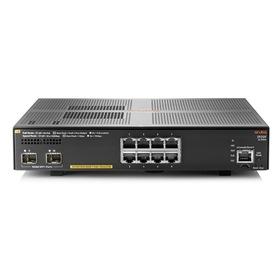 Aruba 2930F 8G PoE+ 2SFP+ Managed 8x10/100/1000 (PoE+) + 2x1 Gigabit/10 Gigabit SFP+ (Uplink) an Rack montierbar PoE+