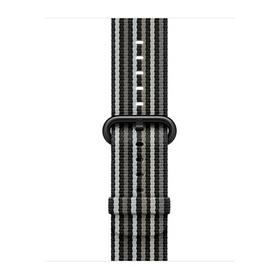Apple gewebtes Nylonband für Apple Watch 38mm schwarz gestreift