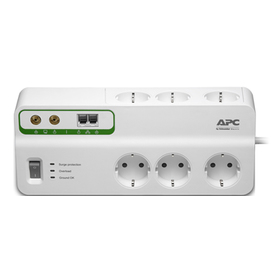 APC Home/Office SurgeArrest 6 outlets Phone & Coax Protection 230V Germany