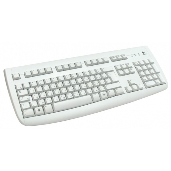 Logitech Tastatur K120 for Business USB weiß Tastatur-Layout Deutsch